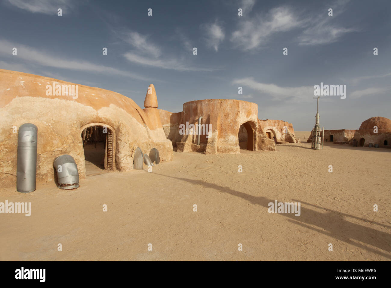 The scenery for the movie 'Star Wars' director George. Lucas, the Sahara Desert, Tunisia - Stock Image