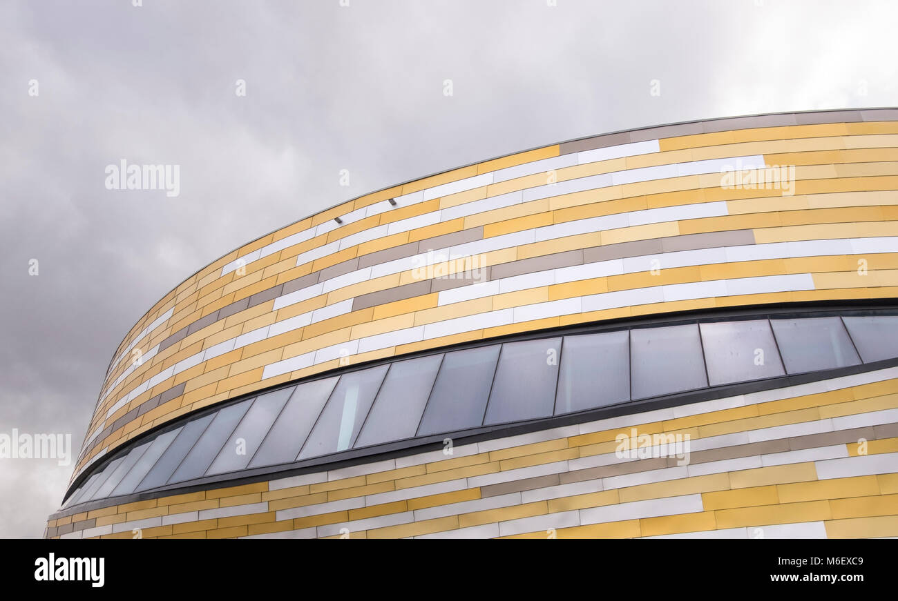 Example of modern architecture at Derby Velodrome, UK - Stock Image