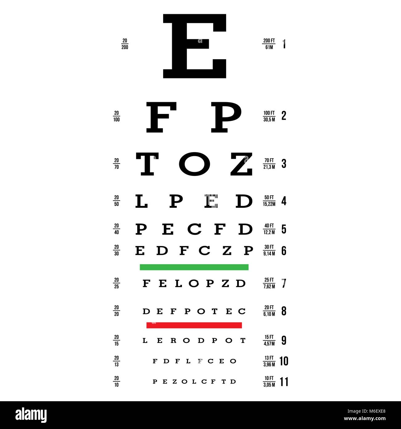 Seeing eye chart images chart design ideas optician letters stock photos optician letters stock images alamy eye test chart vector letters chart vision geenschuldenfo Choice Image