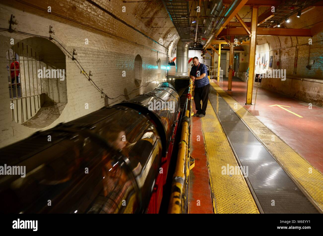 the train at postal museum mount pleasant north london england great britain - Stock Image