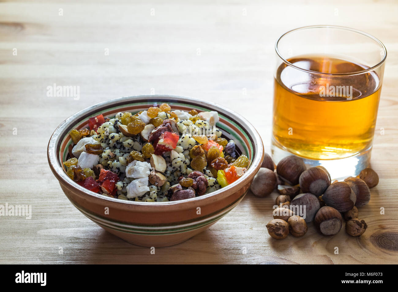 Ukrainian kutia and uzvar - Stock Image