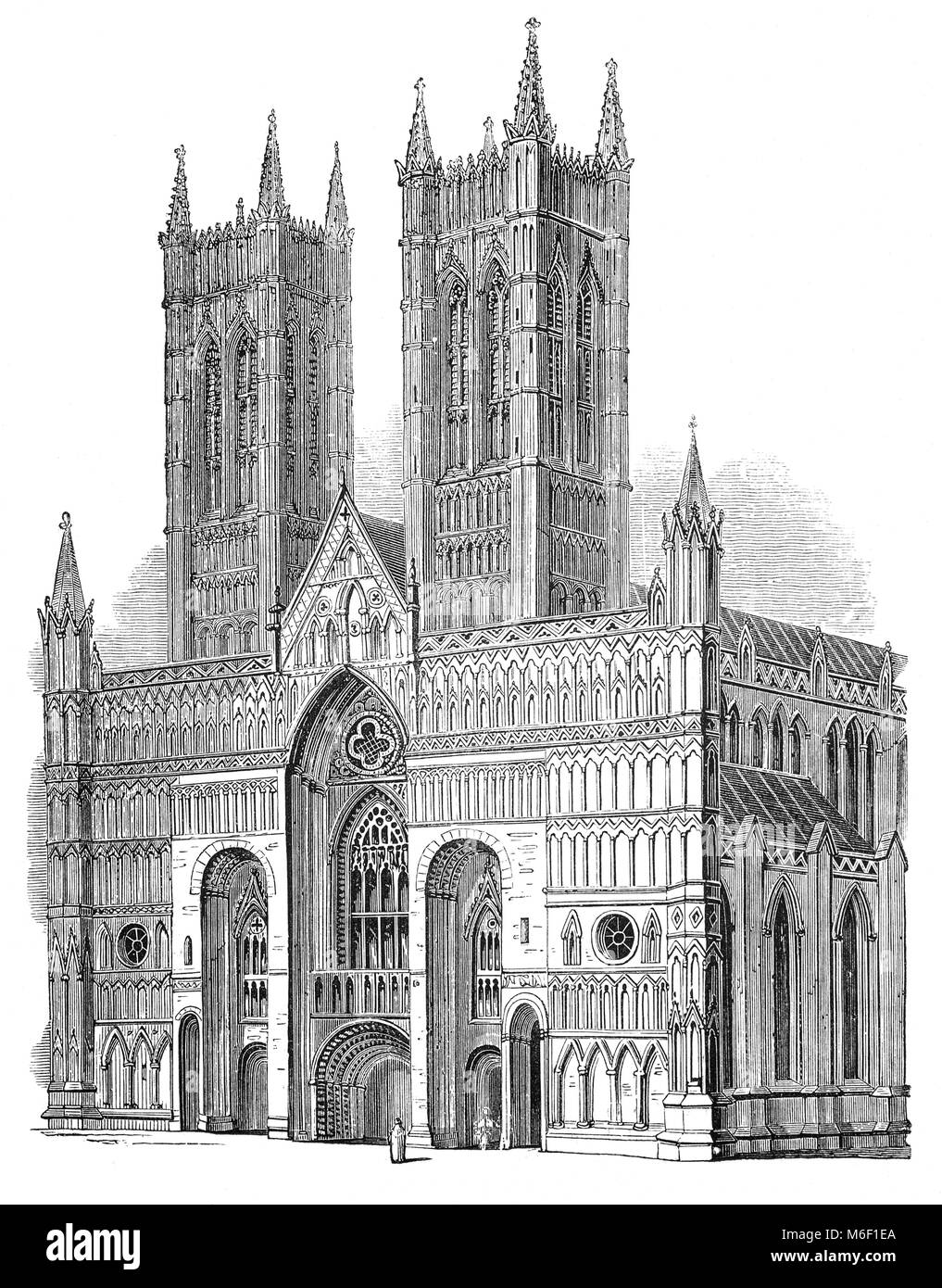 The building of Lincoln Cathedral or the Cathedral Church of the Blessed Virgin Mary of Lincoln in Lincoln, England Stock Photo