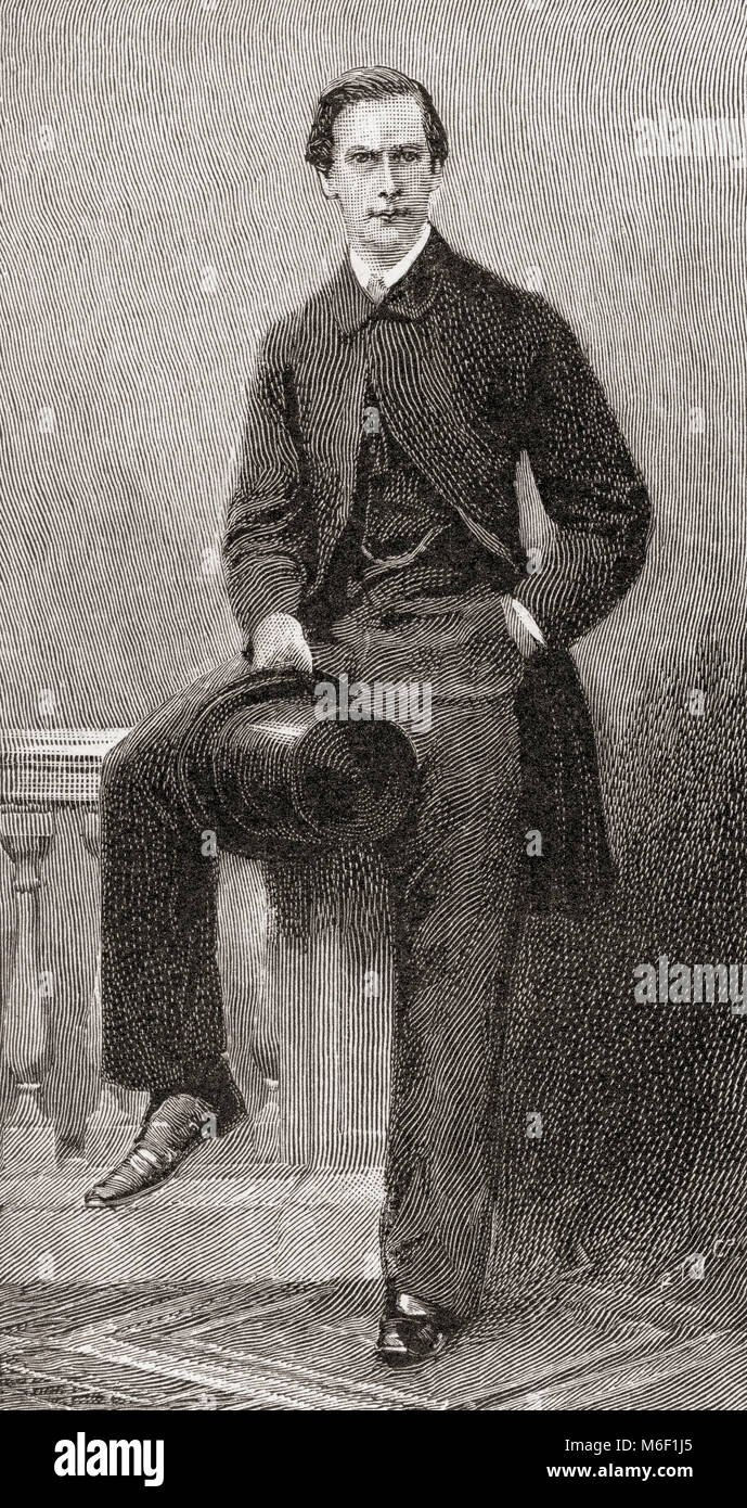 Sir Charles Wentworth Dilke, 2nd Baronet, 1843 – 1911.  English Liberal and Radical politician.  From The Strand - Stock Image