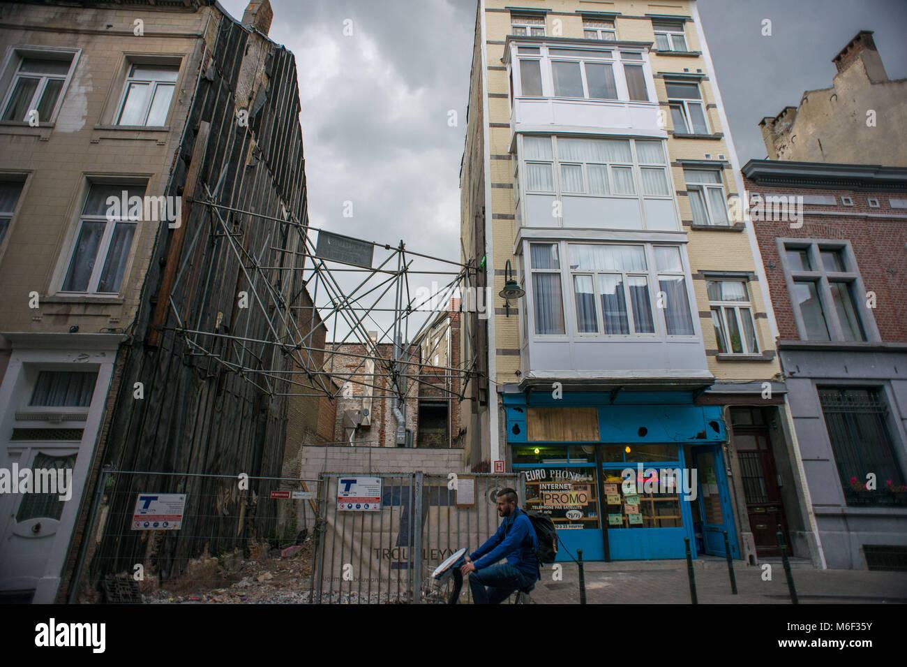 Bruxelles, La Poudriere. Belgium. - Stock Image
