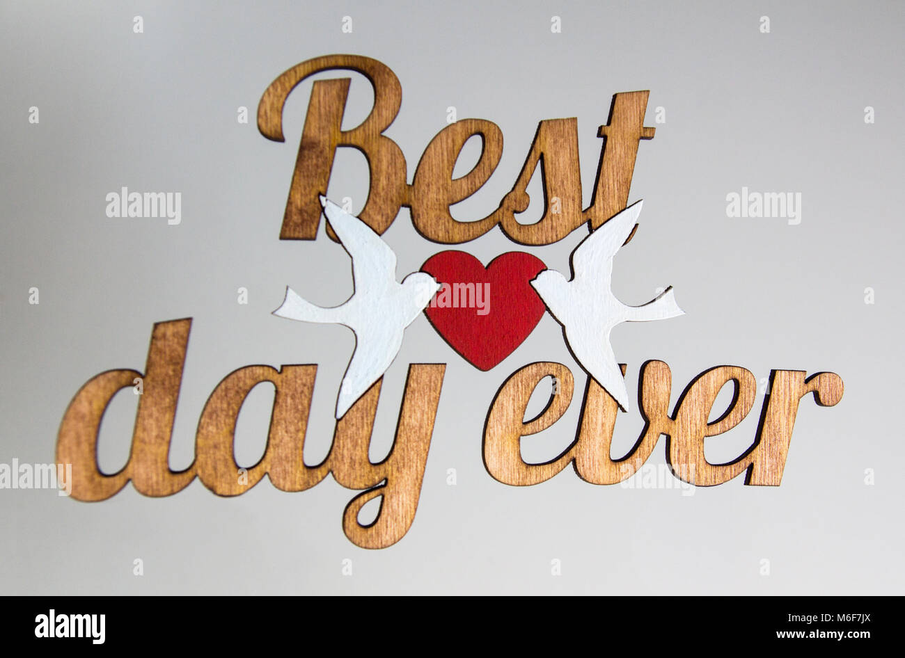 Best Day Ever Modern Calligraphy Motivational Quote Wood Words