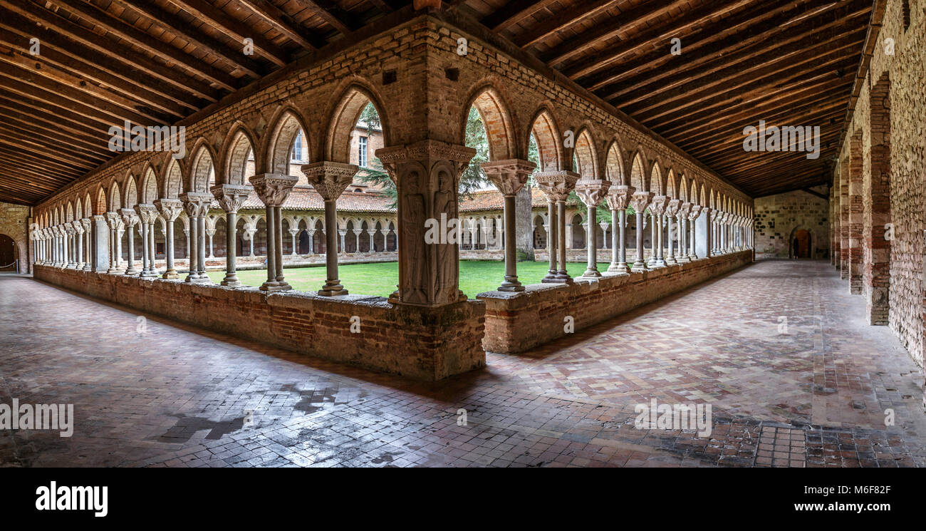 Moissac Abbey was a Benedictine and Cluniac monastery in Moissac, Tarn-et-Garonne in south-western France. A number - Stock Image