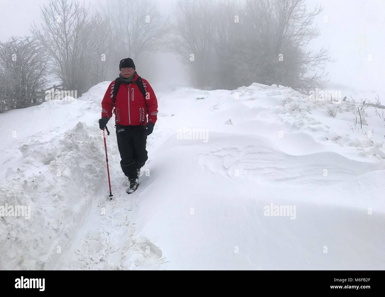 Trefile, Wales. 3rd March 2018. Links to the village of Trefil in South Wales have been restored after 2 days of - Stock Image