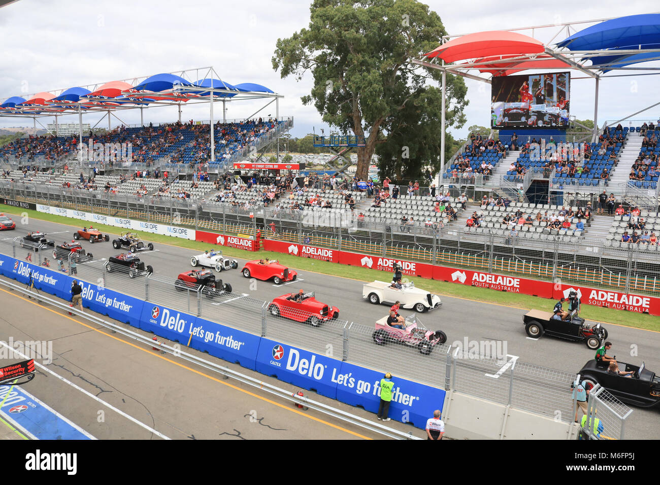 Adelaide Australia 4th March 2018.Parade of past Adelaide 500 Stock ...