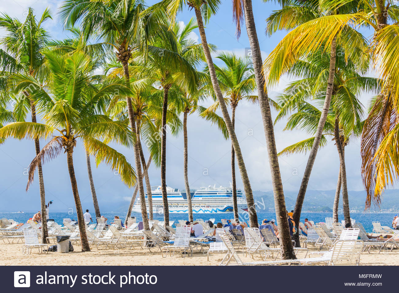Island Bacardi ( Cayo Levantado), Samana, Dominican Republic. January 2018. Beautiful and bright island in the Samana - Stock Image