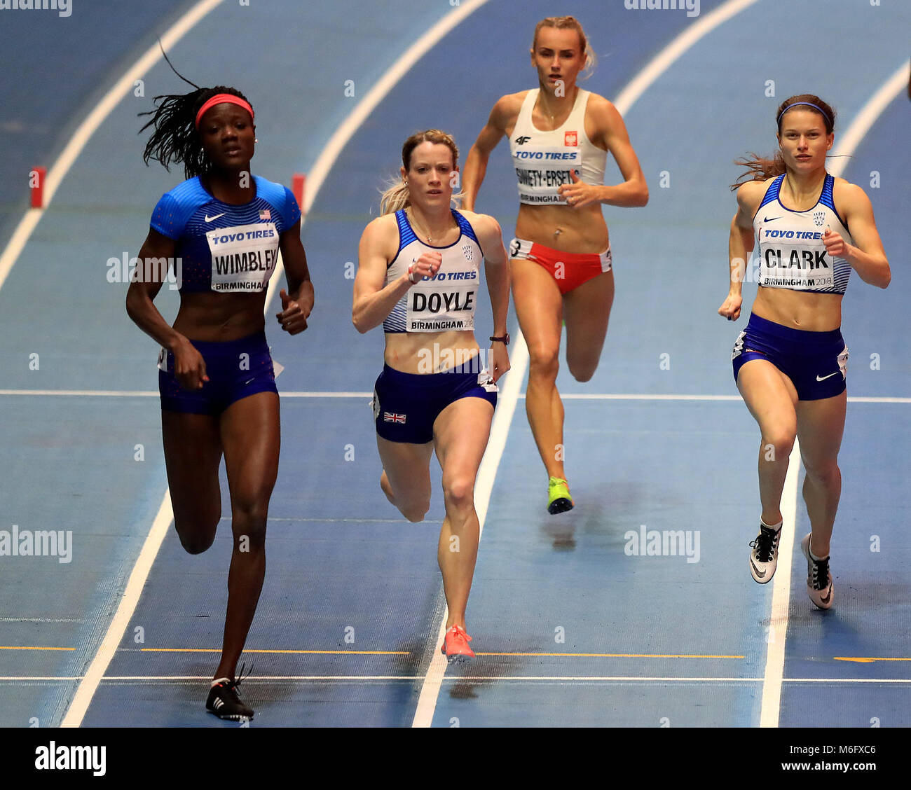 Great Britain's Zoey Clark (right) and Eilidh Doyle (second left) during the Women's 400m Final during day - Stock Image