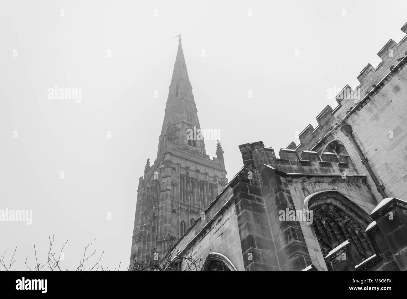 Holl Trinity Church, Broadgate, Coventry, England. - Stock Image