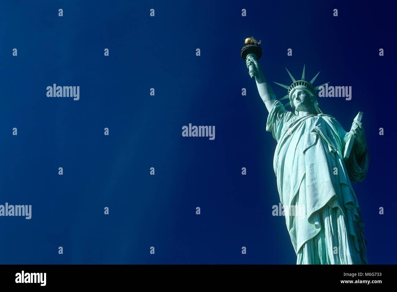 Statue of Liberty, Liberty Island, New York, USA - Stock Image