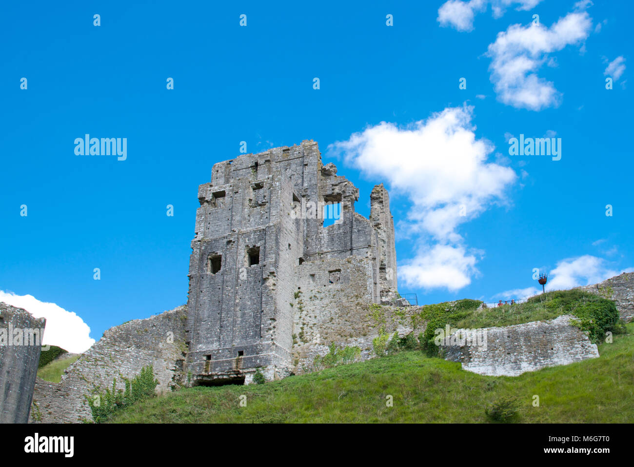 Corfe Castle, Purbeck Hills, Dorest, England - Stock Image