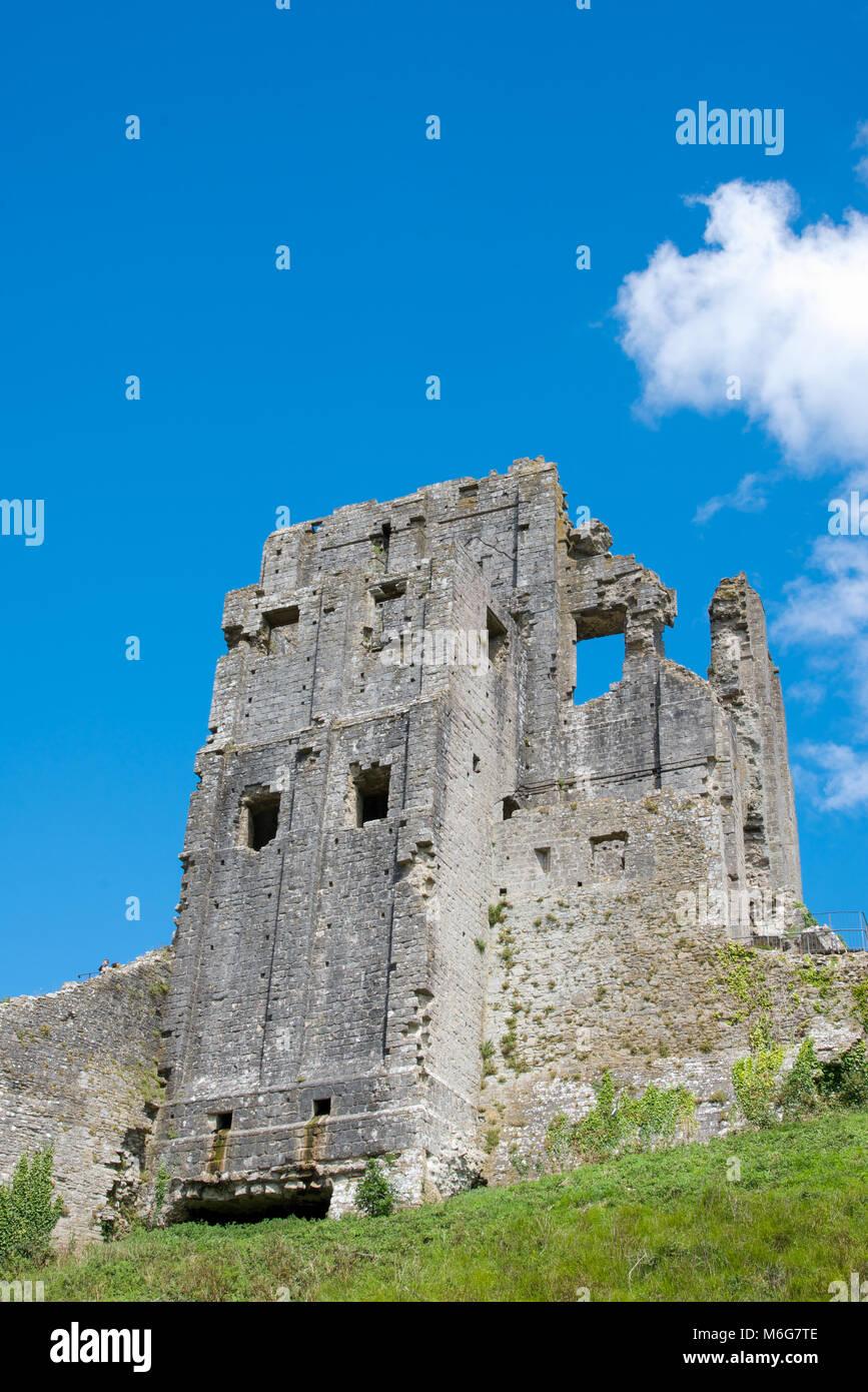 Corfe Castle, Purbeck Hills, Dorset, England - Stock Image