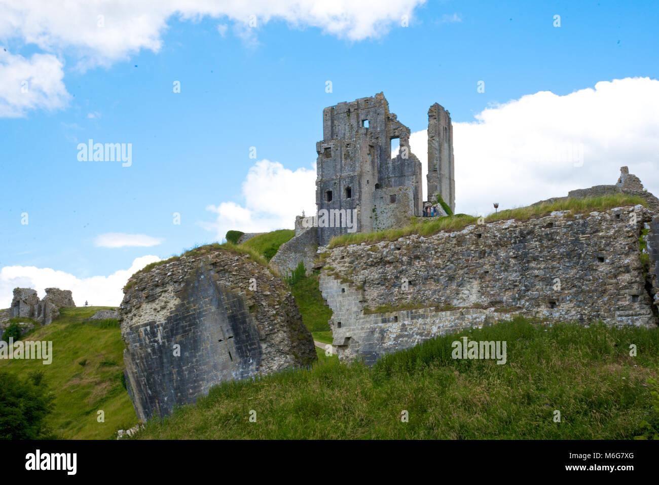 Corfe Castle, Dorset, England - Stock Image
