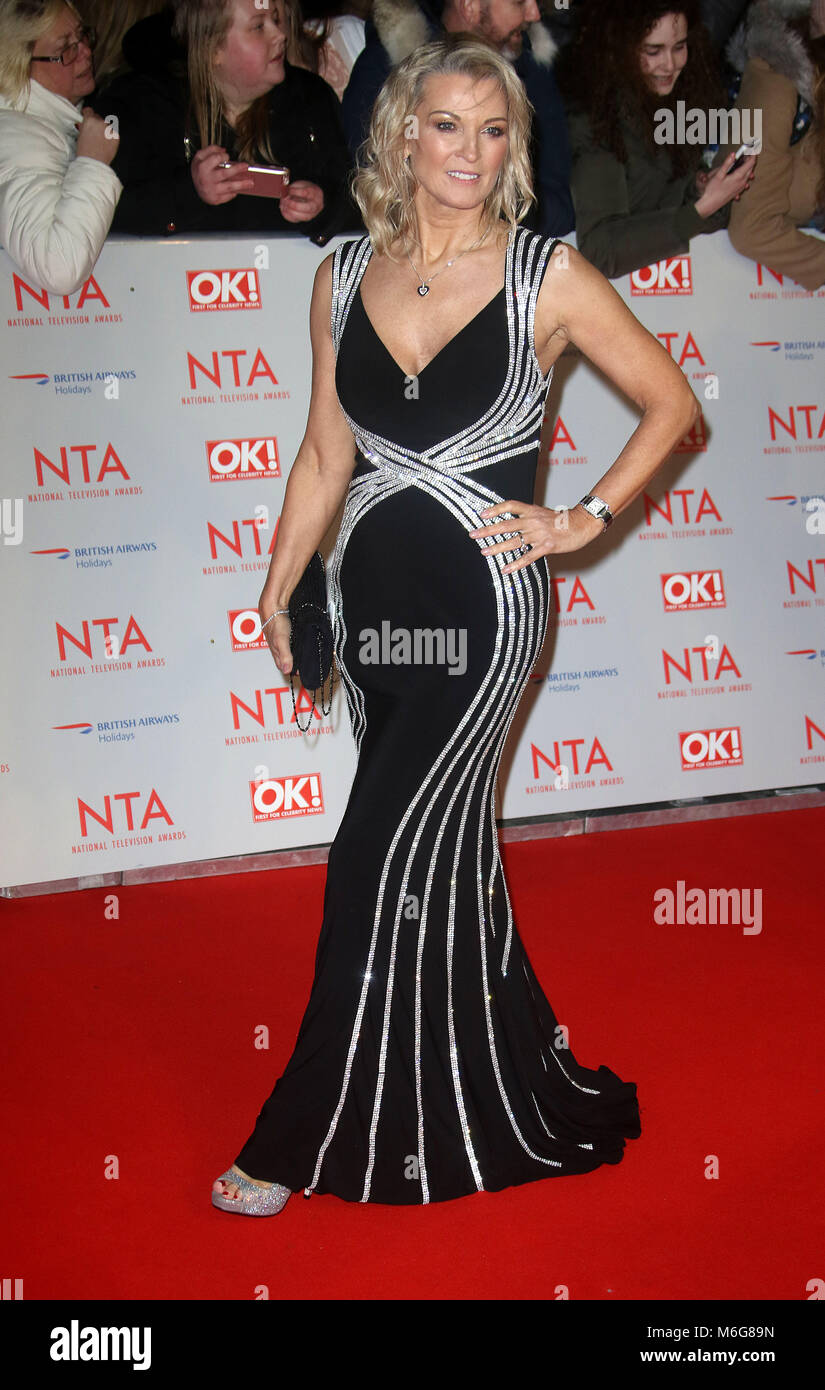 Jan 23, 2018  - Gillian Taylforth attending National Television Awards 2018 at The O2 Arena in London, England, - Stock Image