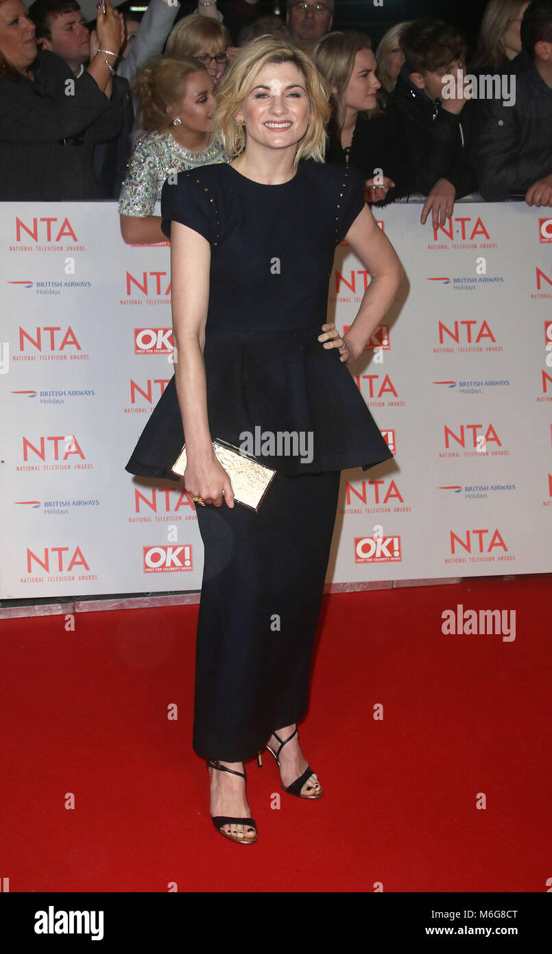 Jan 23, 2018  - Jodie Whittaker attending National Television Awards 2018 at The O2 Arena in London, England, UK - Stock Image