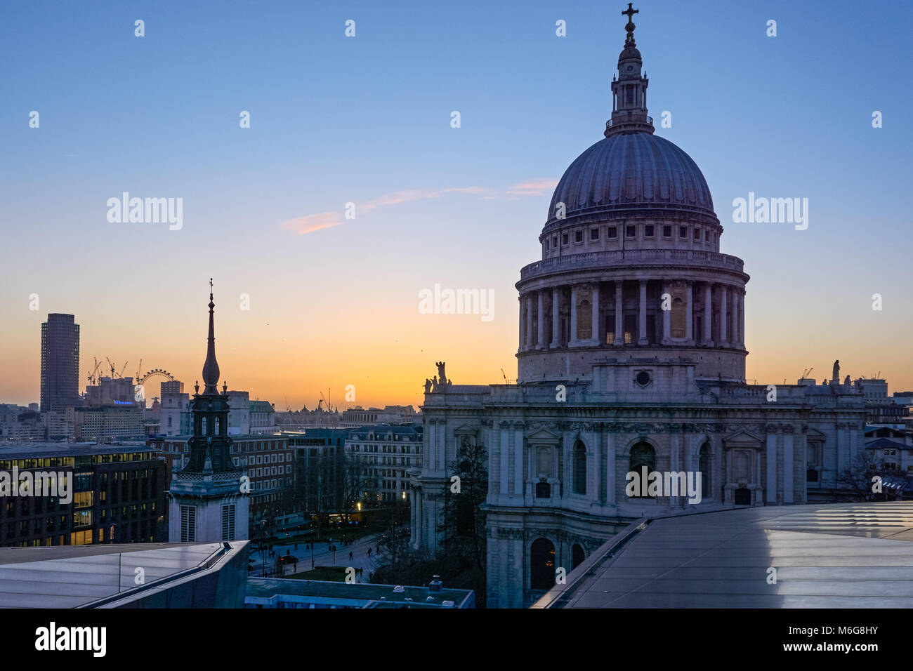St. Paul's Cathedral seen from One New Change, London England United Kingdom UK - Stock Image