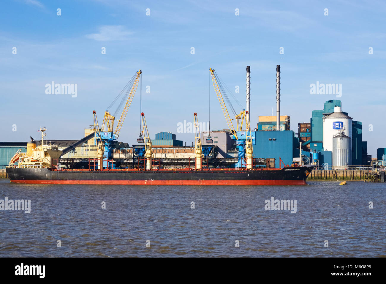 Tate & Lyle Silvertown sugar refinery, Thames Refinery, London, England, United Kingdom, UK - Stock Image