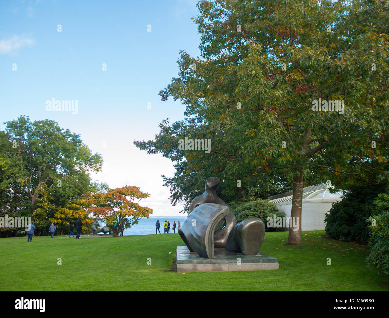 Louisiana Museum sculpture park - Stock Image