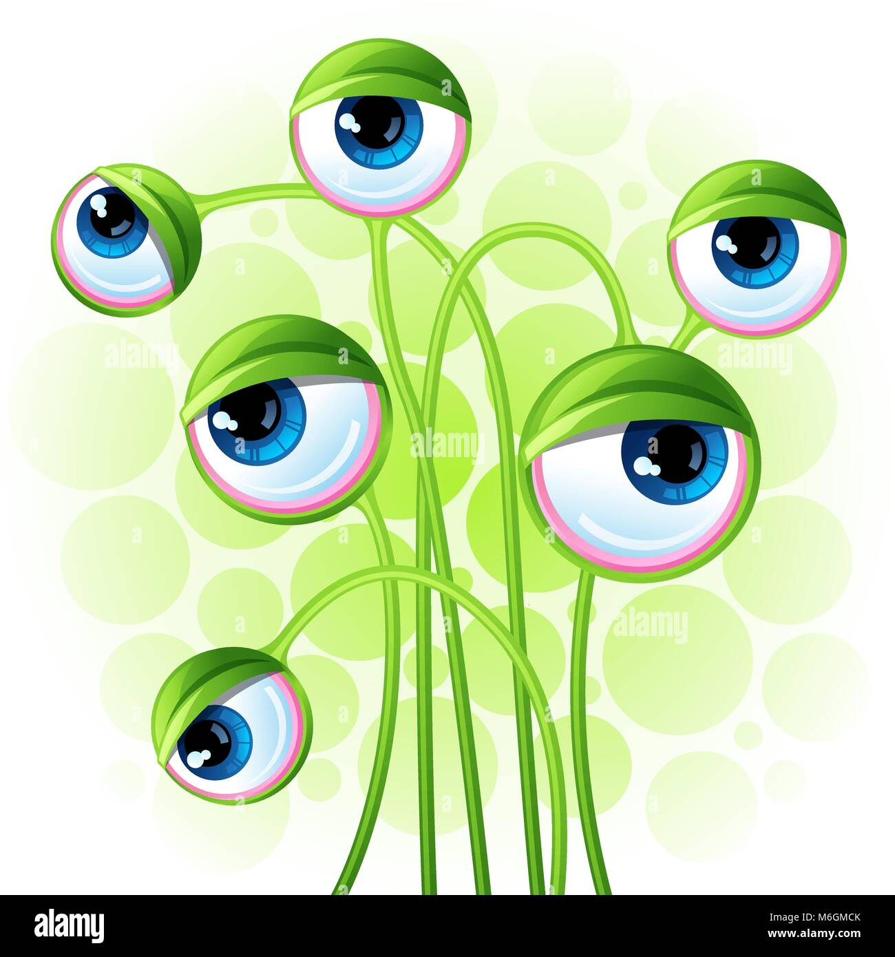 Abstract background with alien eyes - Stock Image