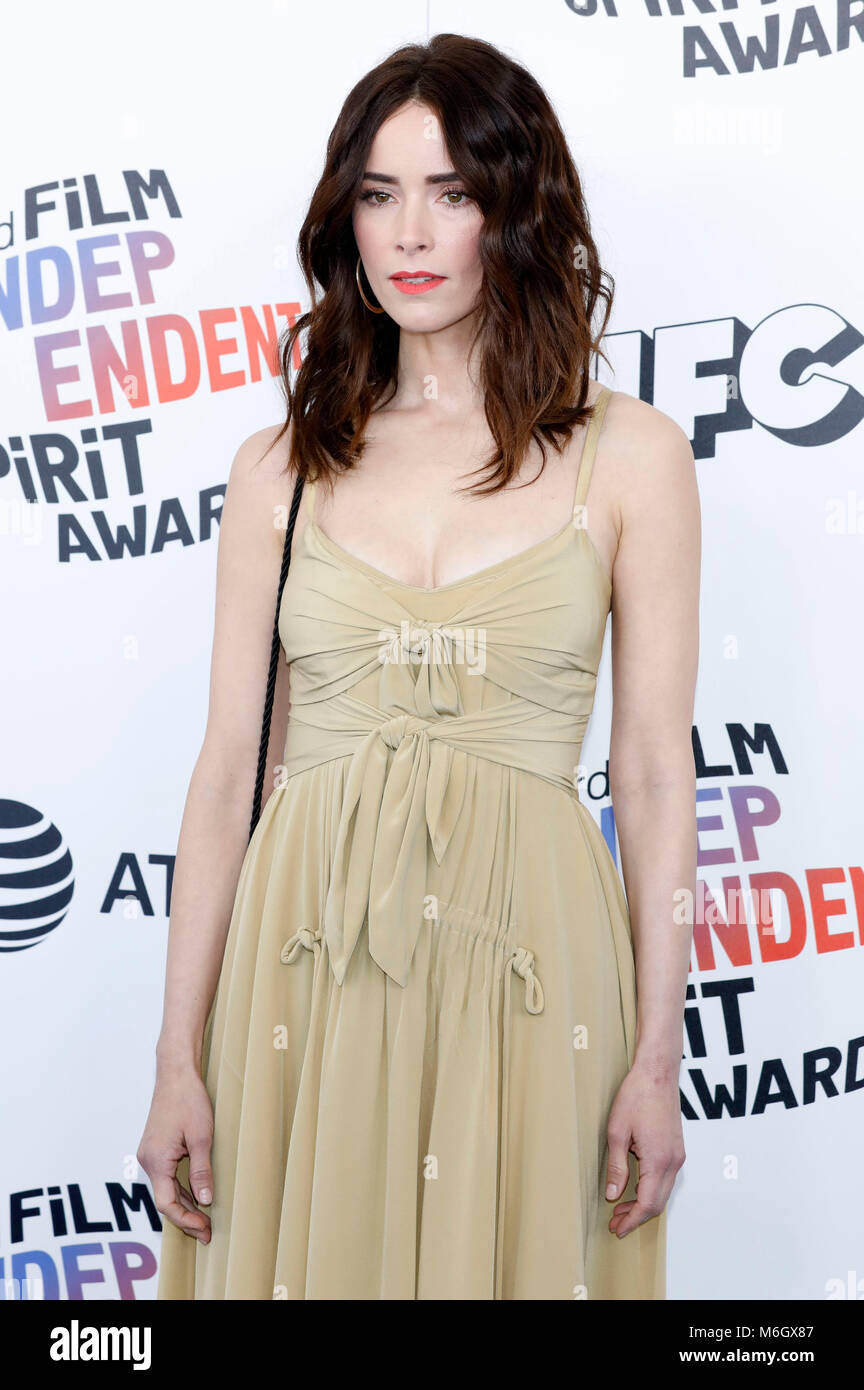 Abigail Spencer attending the 33rd annual Film Independent Spirit Awards 2018 on March 3, 2018 in Santa Monica, - Stock Image