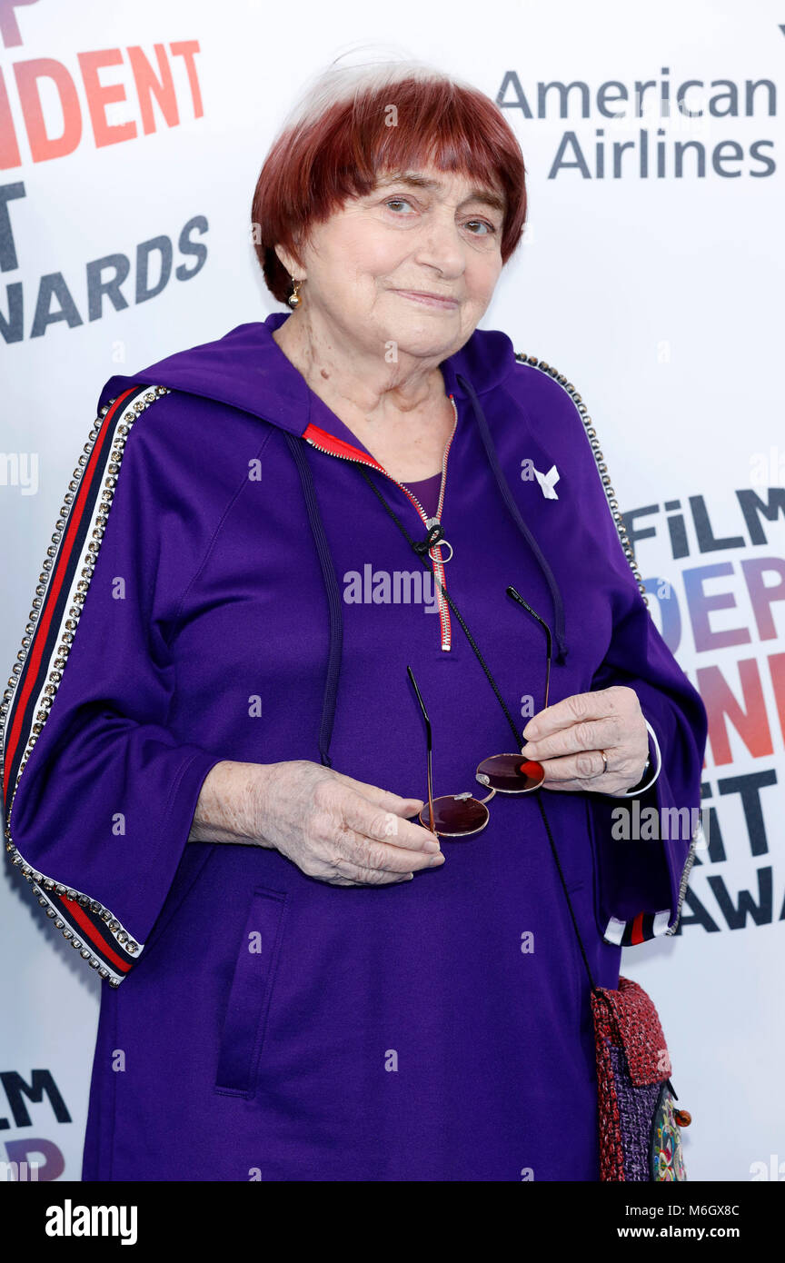 Agnes Varda attending the 33rd annual Film Independent Spirit Awards 2018 on March 3, 2018 in Santa Monica, California. - Stock Image