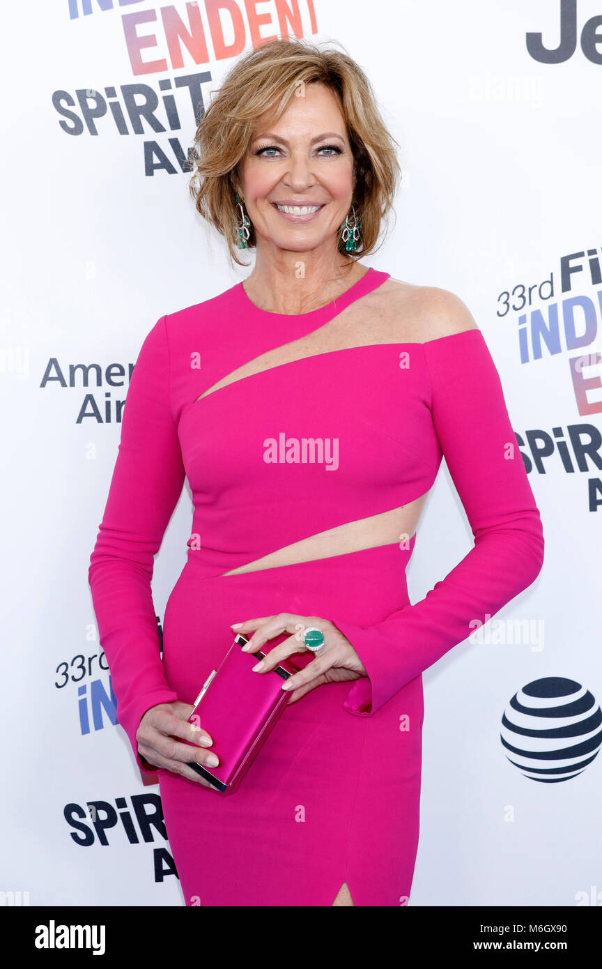 Allison Janney attending the 33rd annual Film Independent Spirit Awards 2018 on March 3, 2018 in Santa Monica, California. - Stock Image