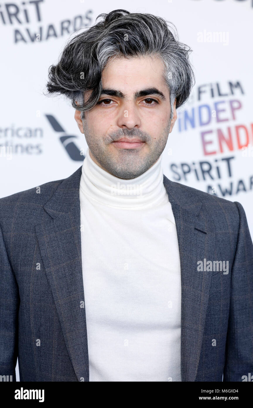 Feras Fayyad attending the 33rd annual Film Independent Spirit Awards 2018 on March 3, 2018 in Santa Monica, California. - Stock Image
