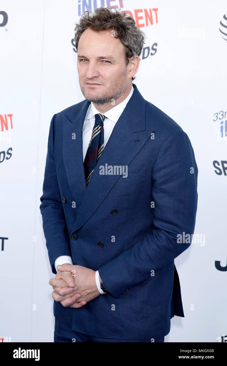 Jason Clarke attending the 33rd annual Film Independent Spirit Awards 2018 on March 3, 2018 in Santa Monica, California. - Stock Image