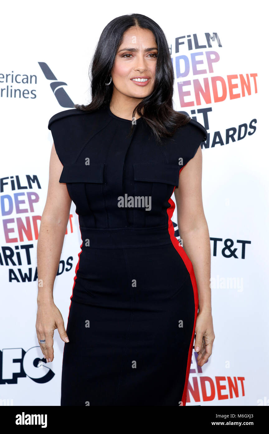 Salma Hayek attending the 33rd annual Film Independent Spirit Awards 2018 on March 3, 2018 in Santa Monica, California. - Stock Image