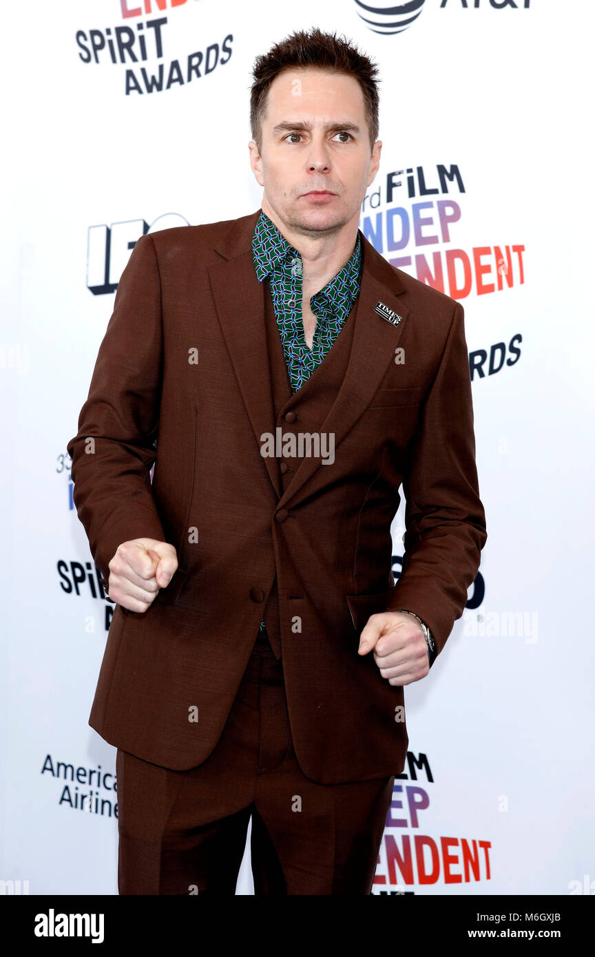 Sam Rockwell attending the 33rd annual Film Independent Spirit Awards 2018 on March 3, 2018 in Santa Monica, California. - Stock Image