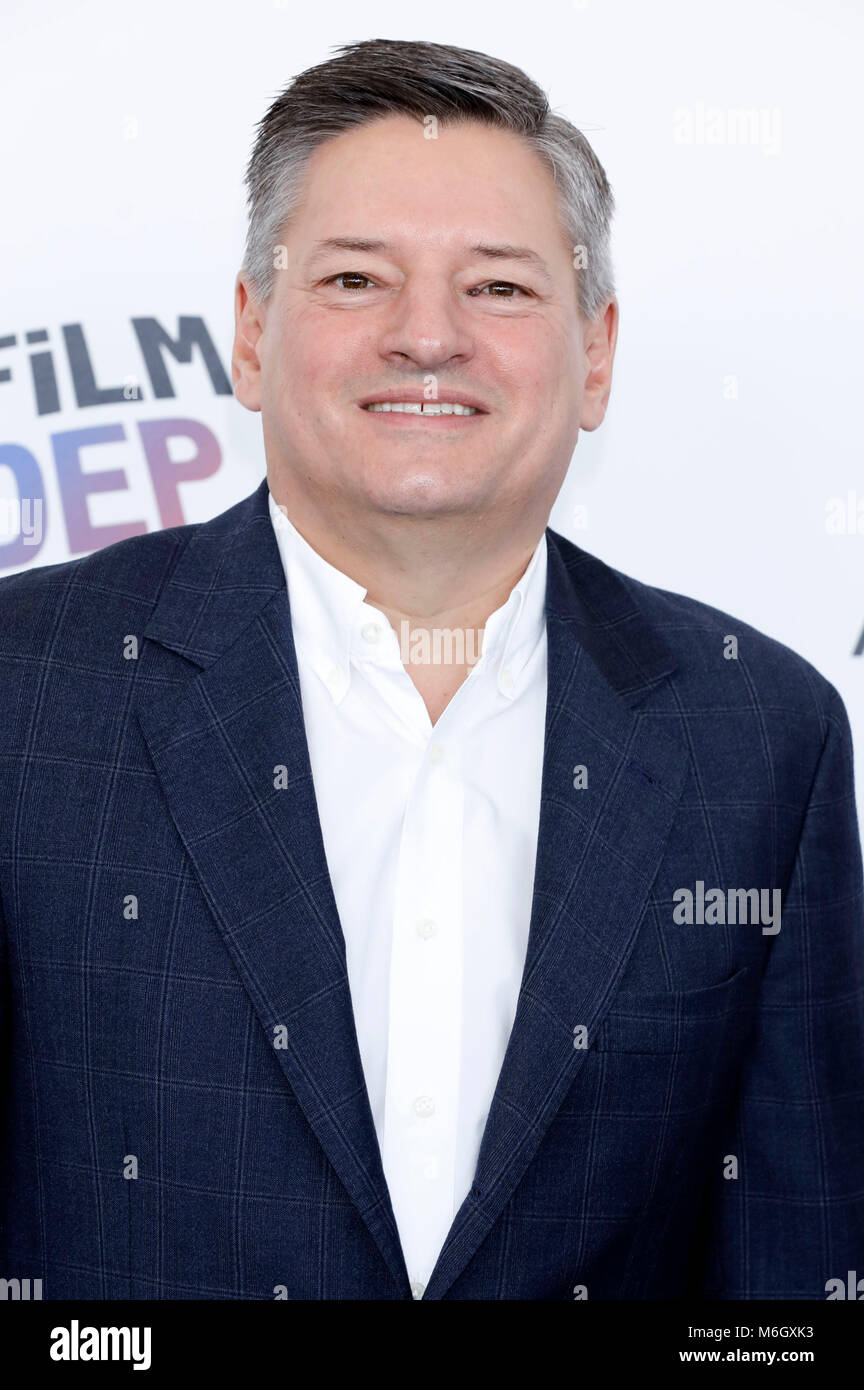 Ted Sarandos attending the 33rd annual Film Independent Spirit Awards 2018 on March 3, 2018 in Santa Monica, California. - Stock Image