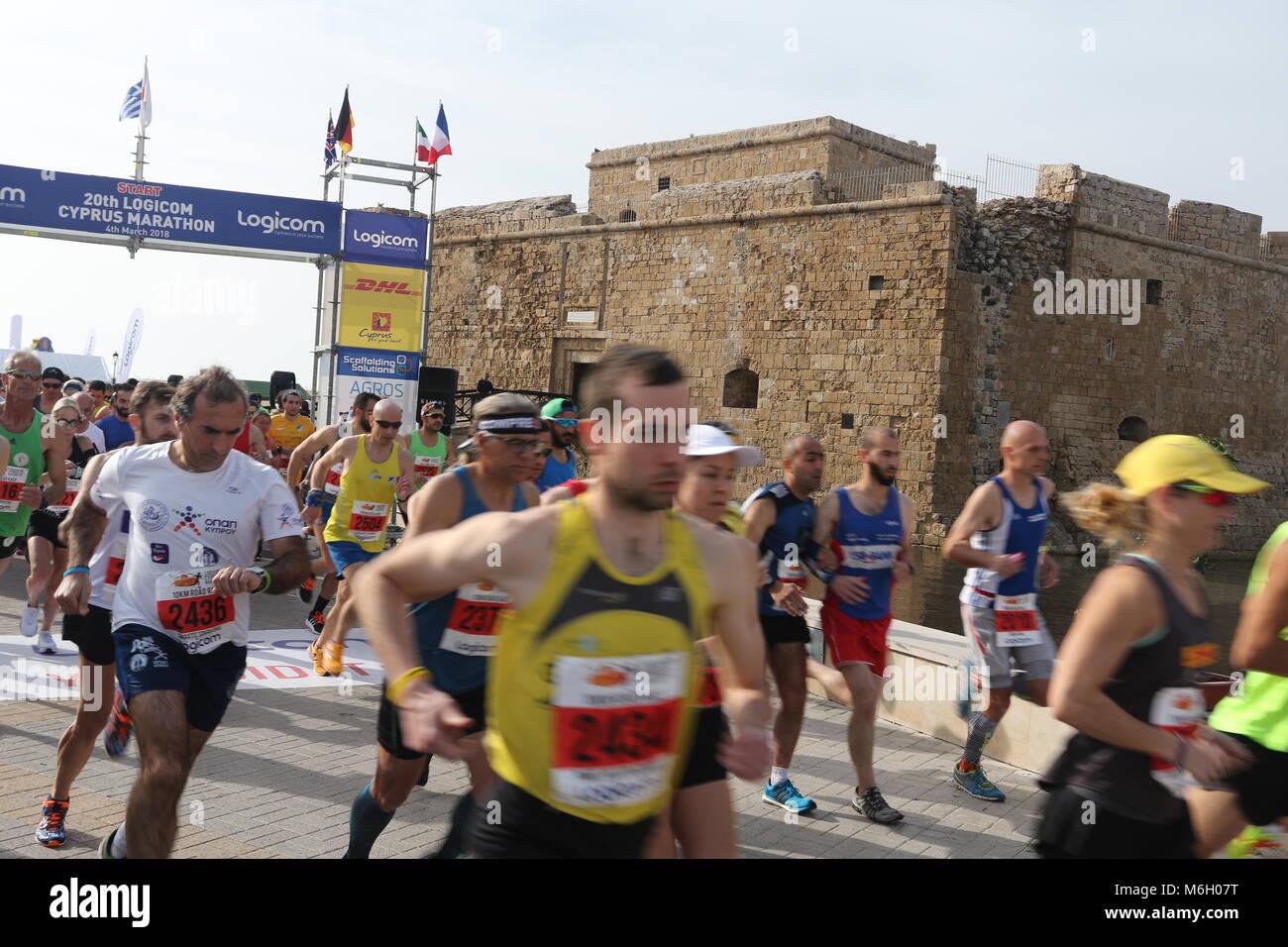20th Logicom Cyprus marathon, half marathon, 10KM, 5KM fun run, - Stock Image