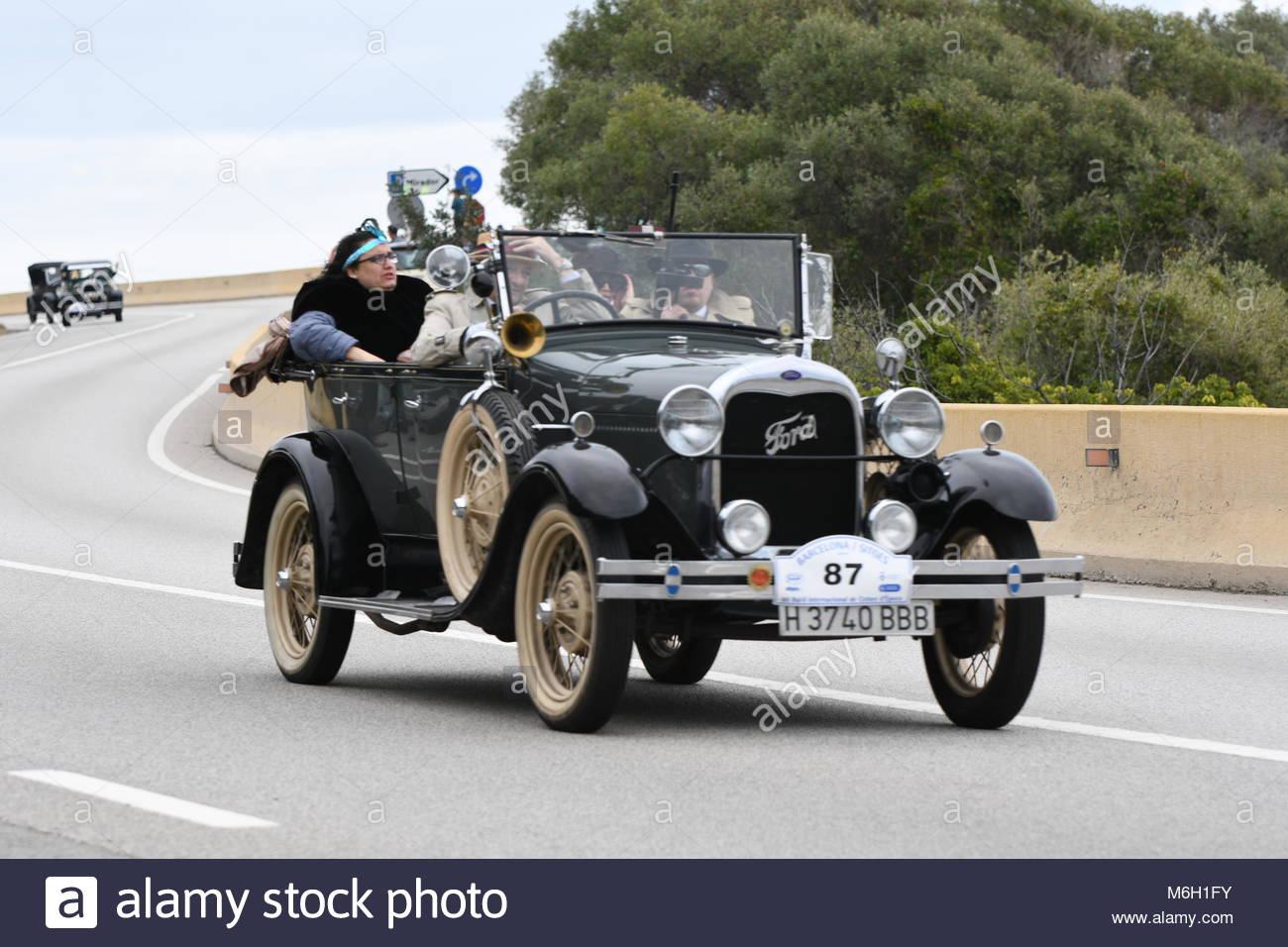 Sitges, Spain. 4th Mar, 2018. A car takes part in the Stock Photo ...