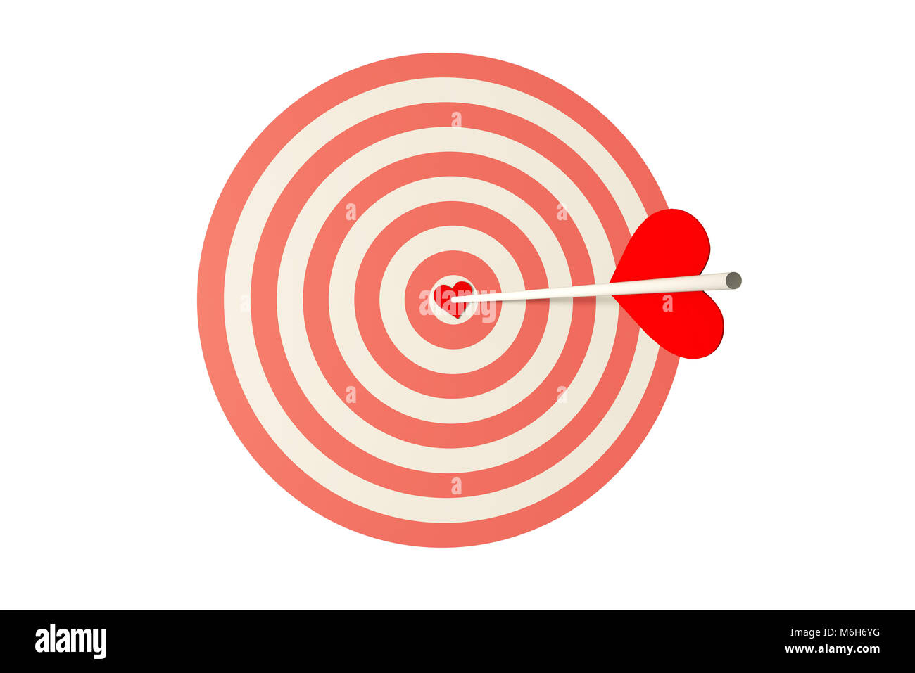 Bullseye archery cut out stock images pictures alamy heart bow currency symbol and red heart stock image altavistaventures Images