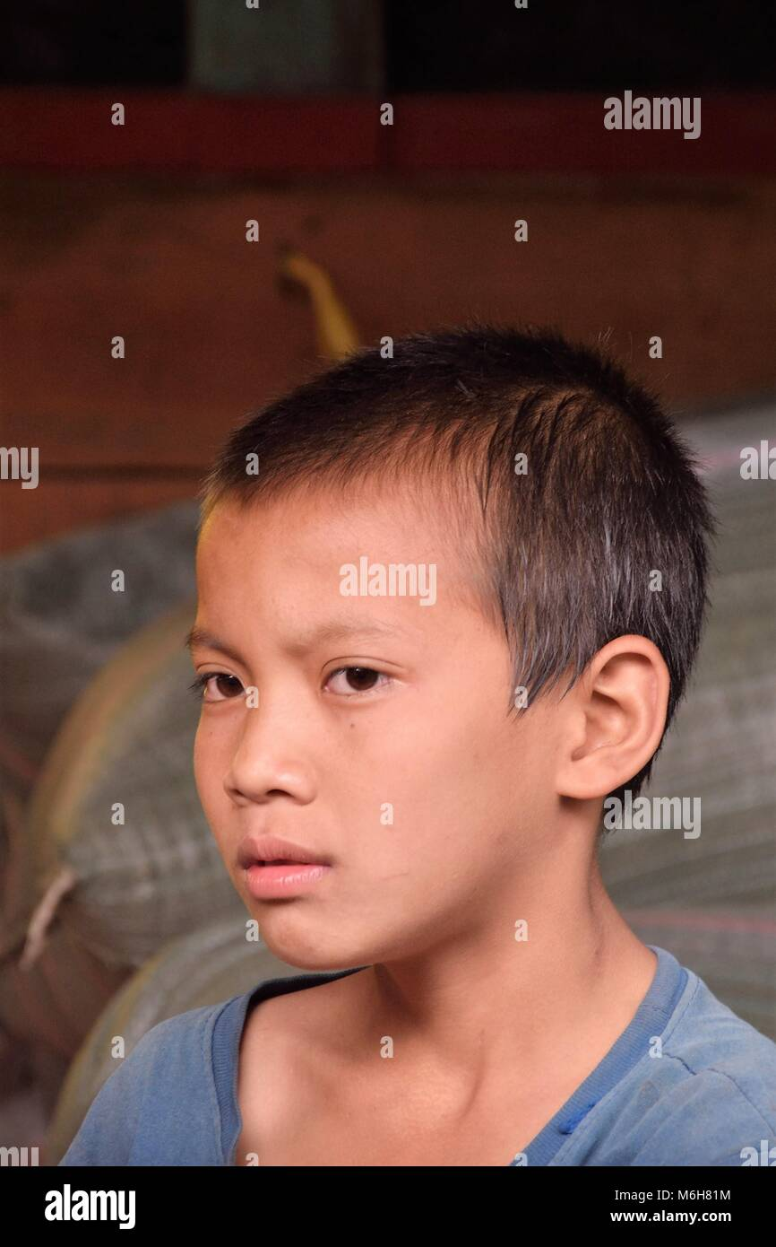 Portraits of people from Laos - Stock Image