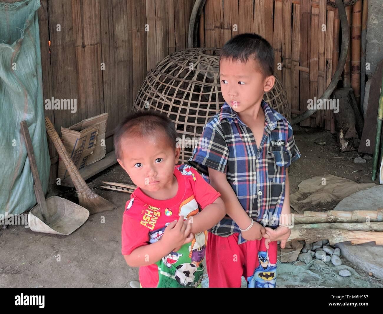 Everyday life scenes in Laos - Stock Image