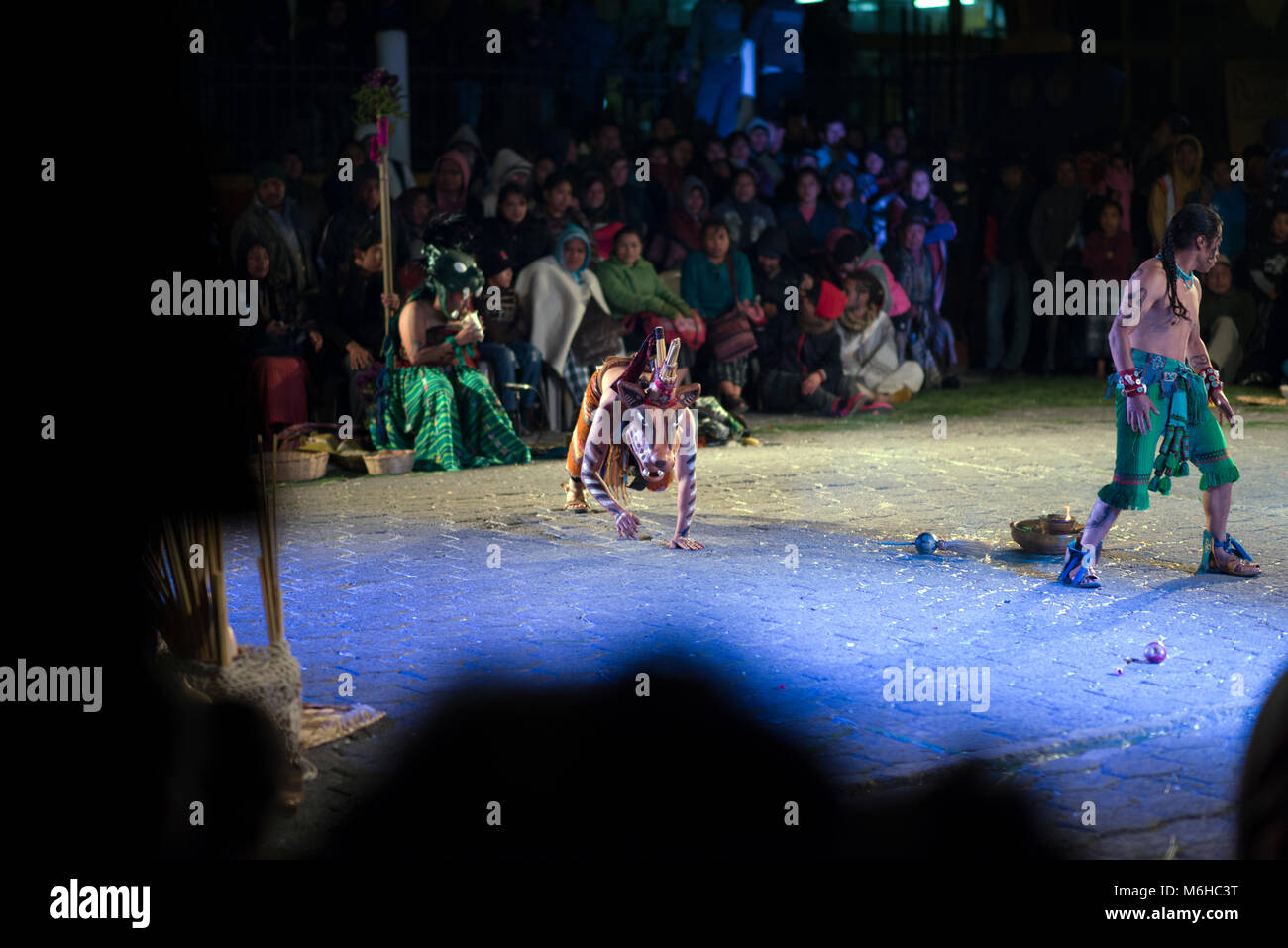 A re-enactment of an ancient Mayan ritual at the Rukux festival in Sololá, Guatemala. - Stock Image