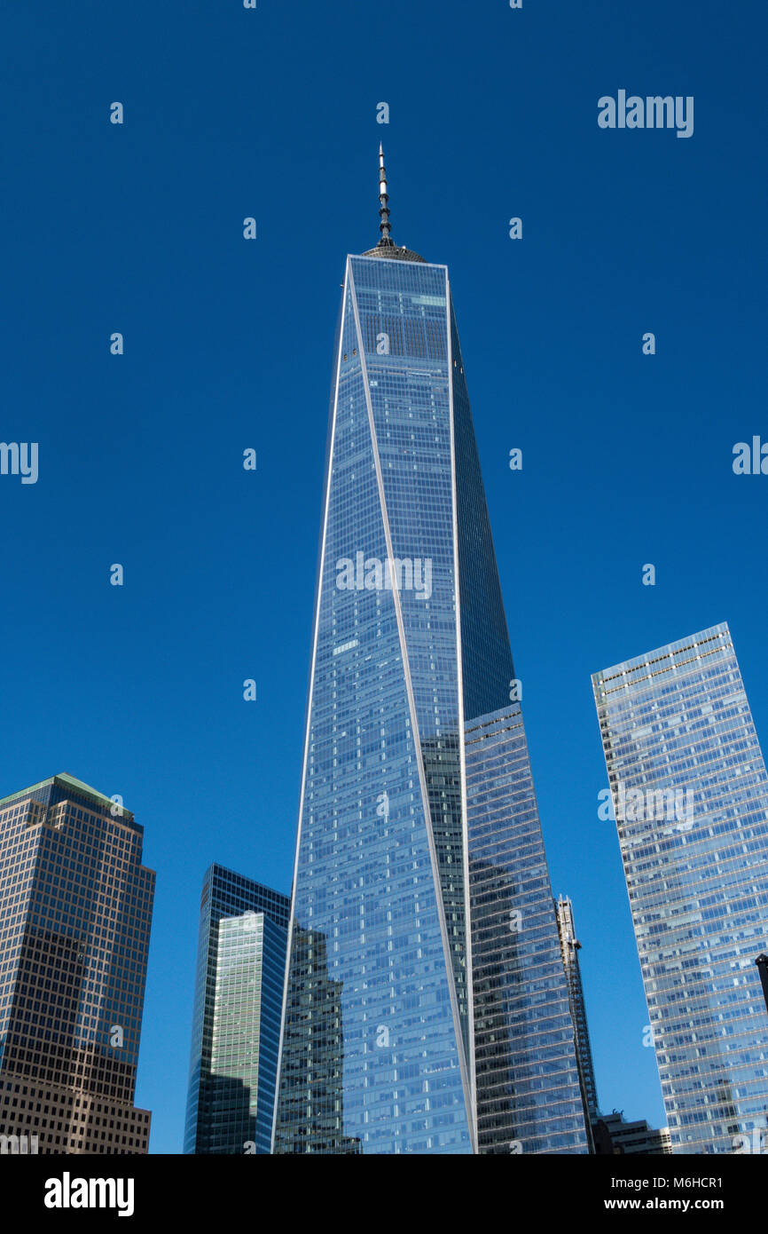 Modern Architecture at the World Trade Center in New York City, USA - Stock Image