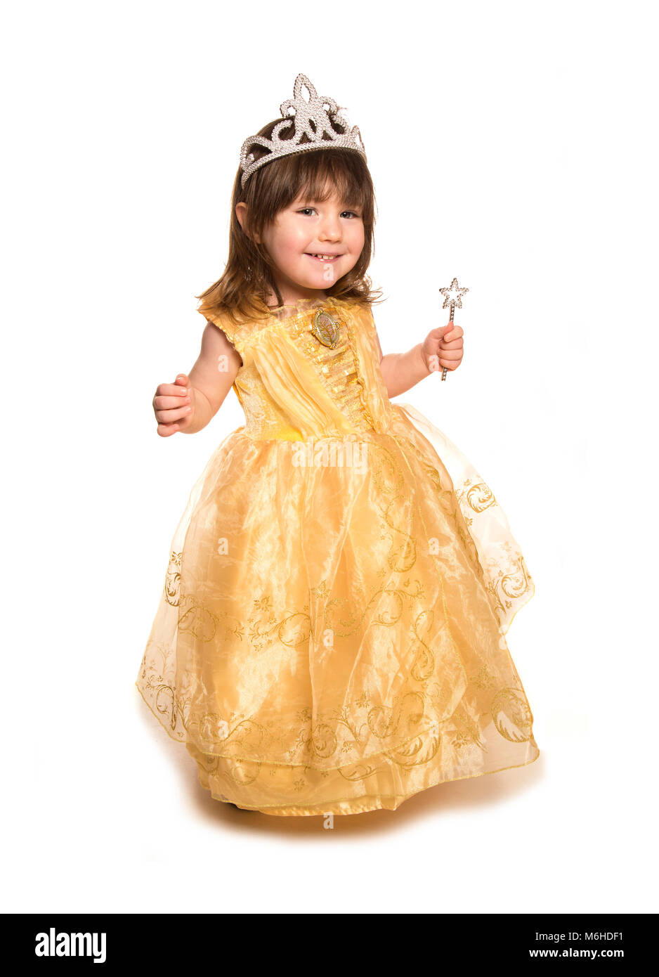 toddler wearing princess fancy dress - Stock Image