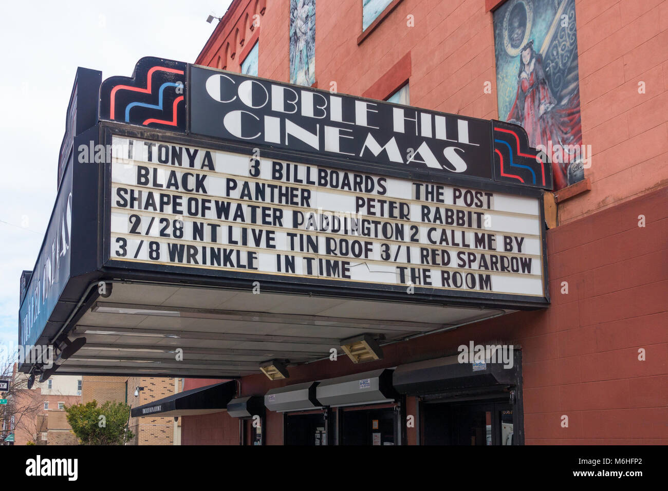 The Cobble Hill Cinemas marquee - Stock Image