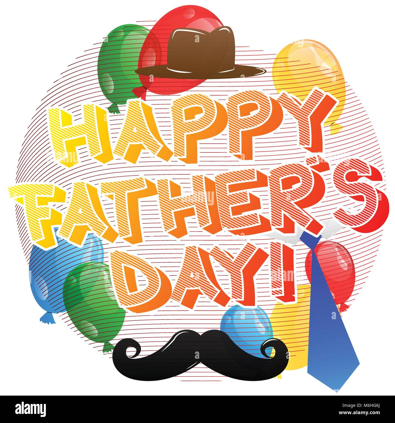Happy fathers day card. Vector illustrated banner, greeting card or poster. Stock Vector