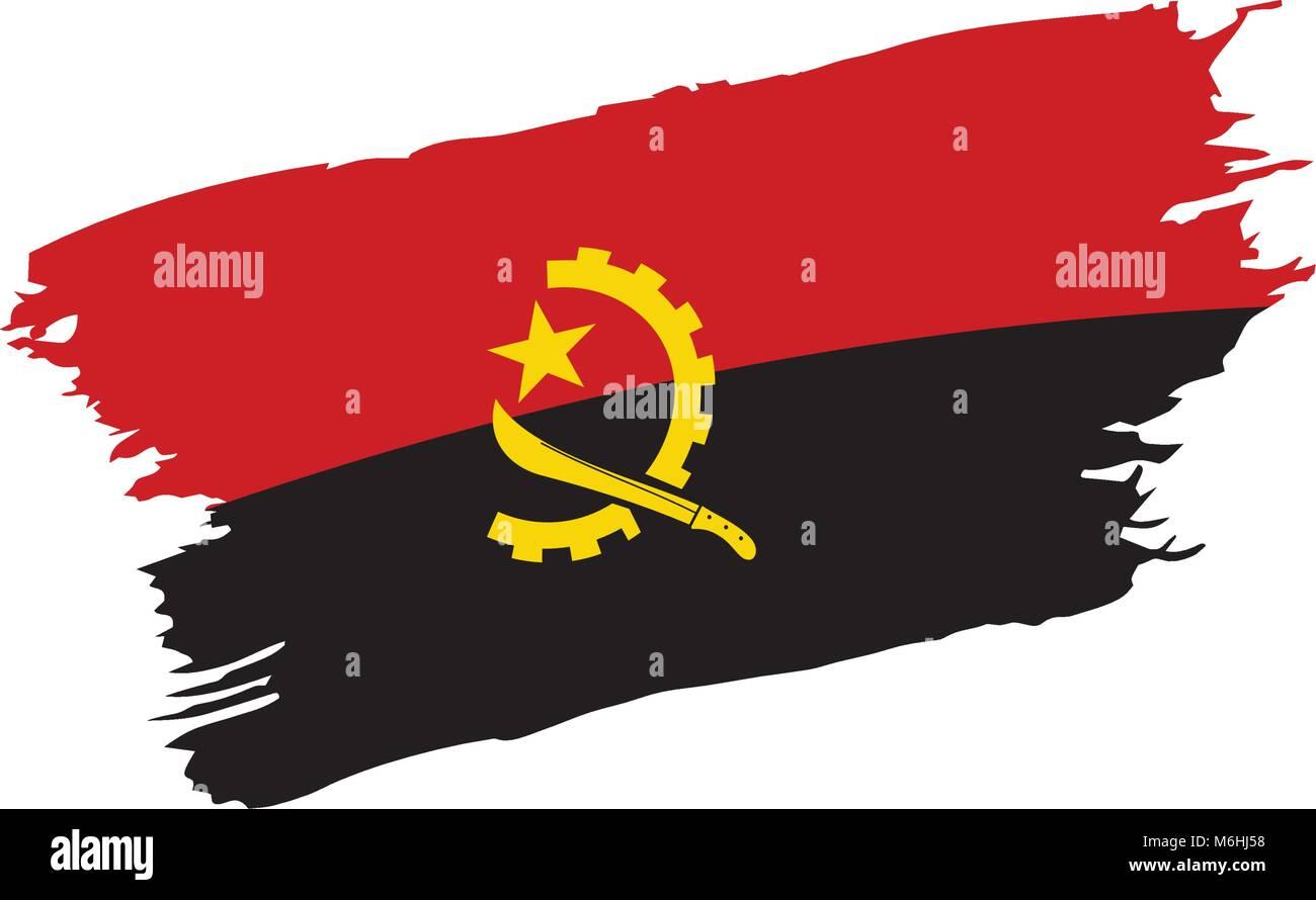Angola flag, vector illustration - Stock Image