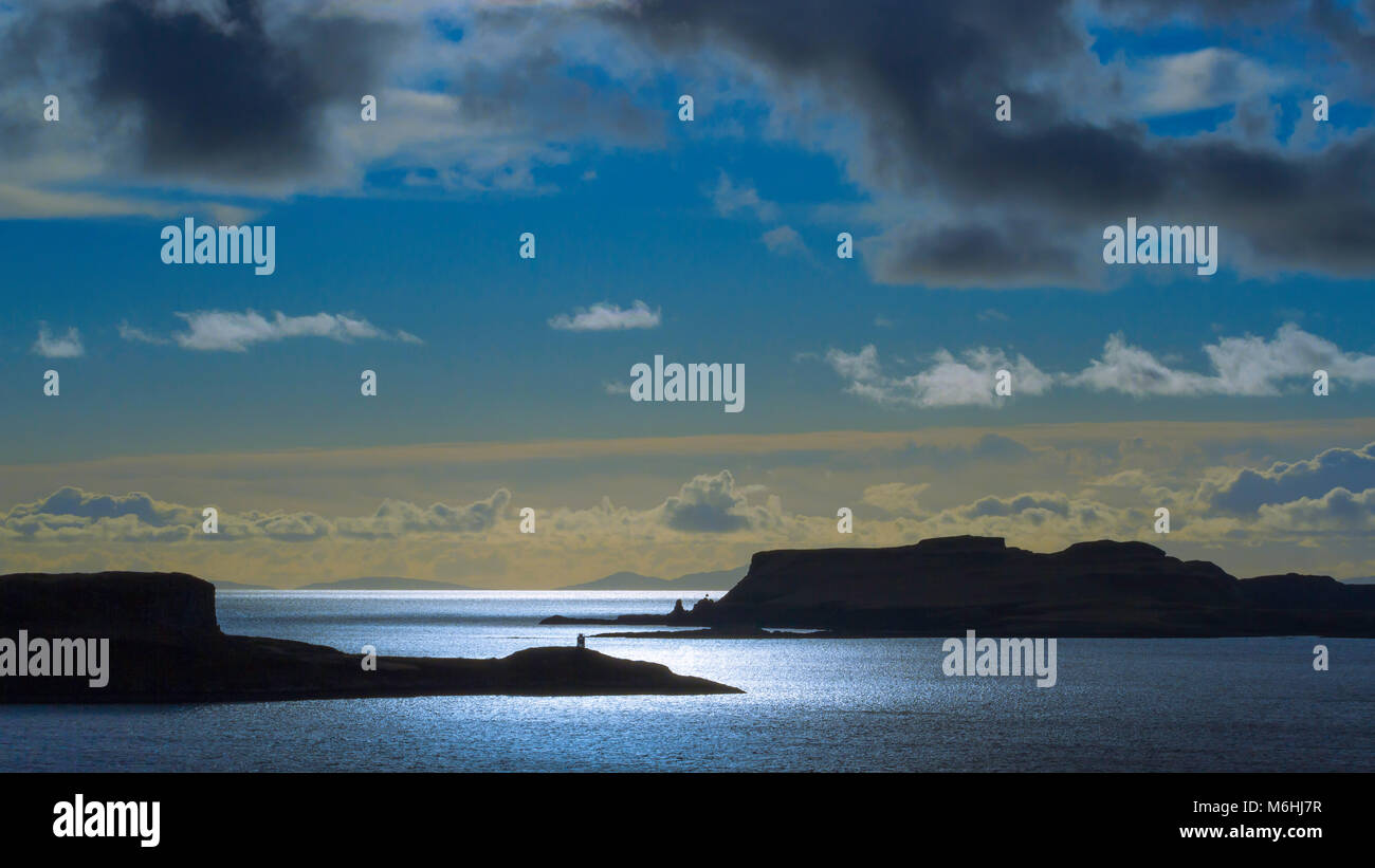 View from Gesto Bay to Ardtreck Point, Isle of Skye. Stock Photo