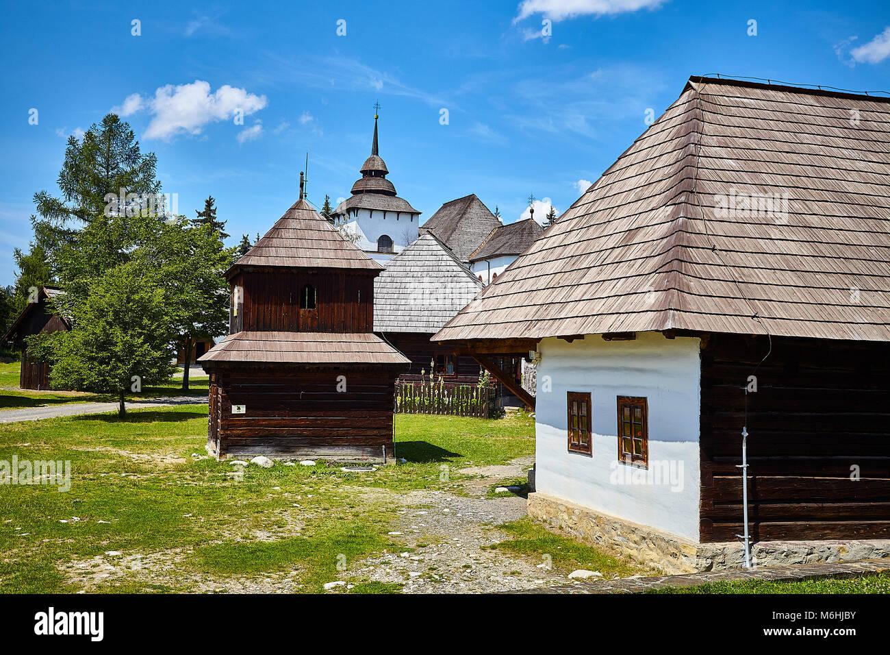 Pribylina, Slovakia. 3rd August, 2017. Open-air Museum of Liptov Village (Múzeum liptovskej dediny), Pribylina, - Stock Image