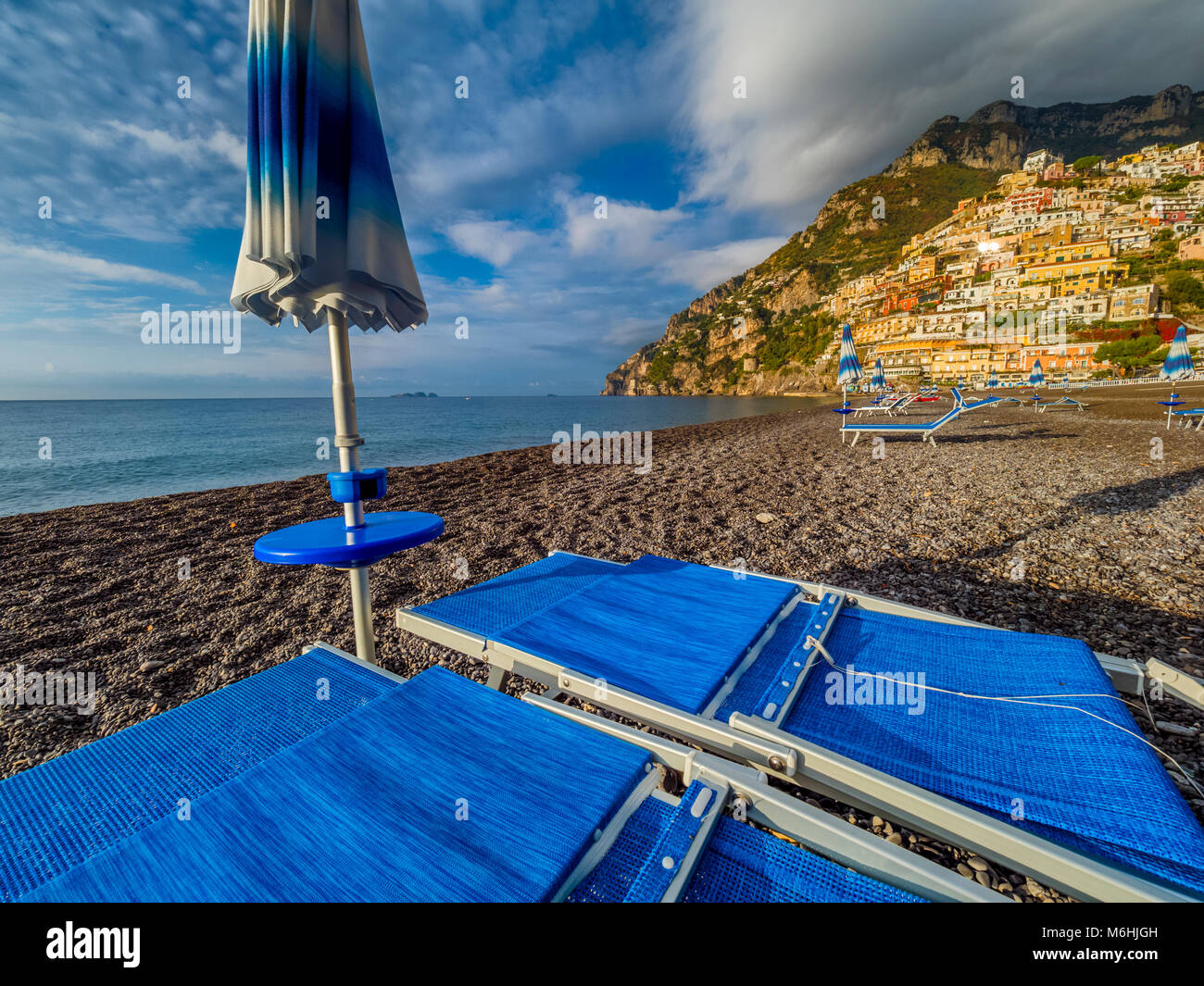 Phenomenal Beach Lounge Chairs In The Town Of Positano On Amalfi Coast Ncnpc Chair Design For Home Ncnpcorg