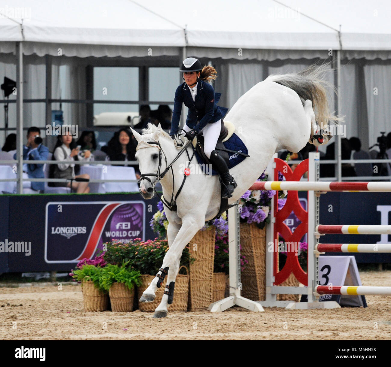 FEI jumping event in Chaoyang park, Beijing, China, in October 2016 Stock Photo
