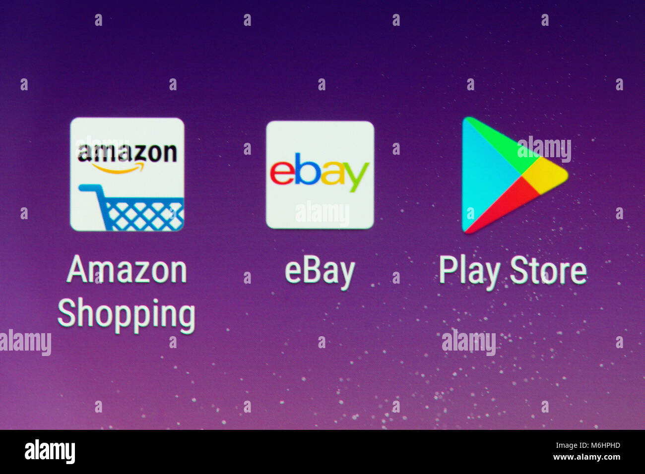 A Closeup Of The Amazon Shopping And Ebay App Icons On A Smartphone Stock Photo Alamy