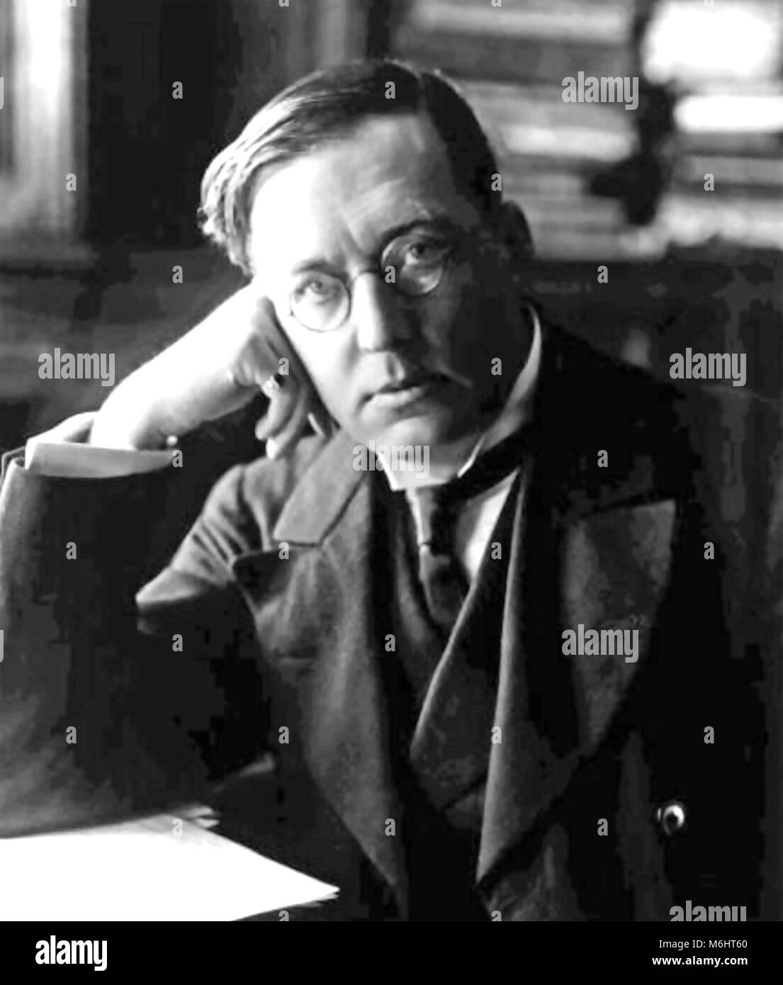 M.R.JAMES (1862-1936) English author and medievalist scholar about 1905 - Stock Image
